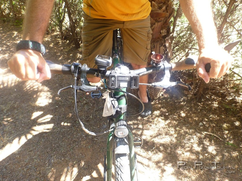 Bicycle Touring With Straight Aka Mtb Handlebars Pedal