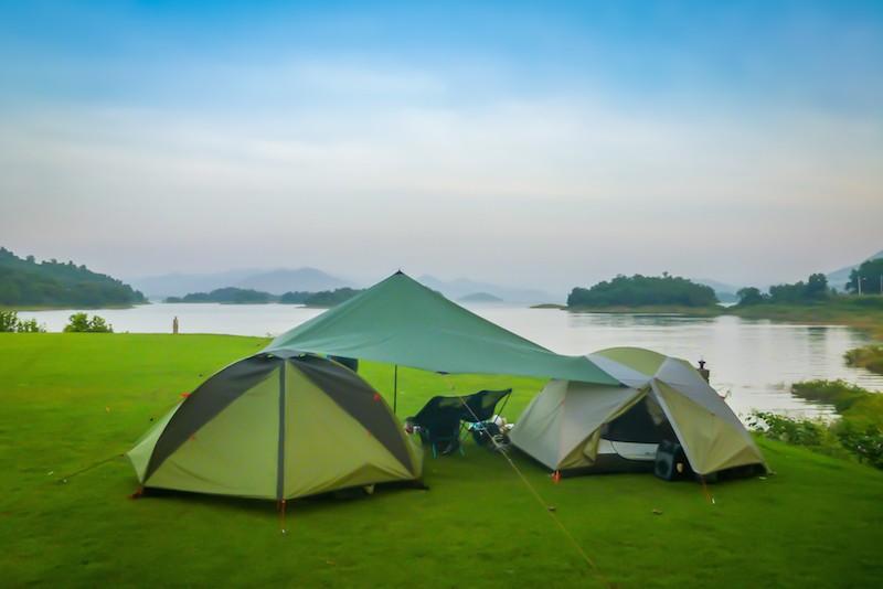 hilleberg ul 10 tarp camping near petchaburi thailand