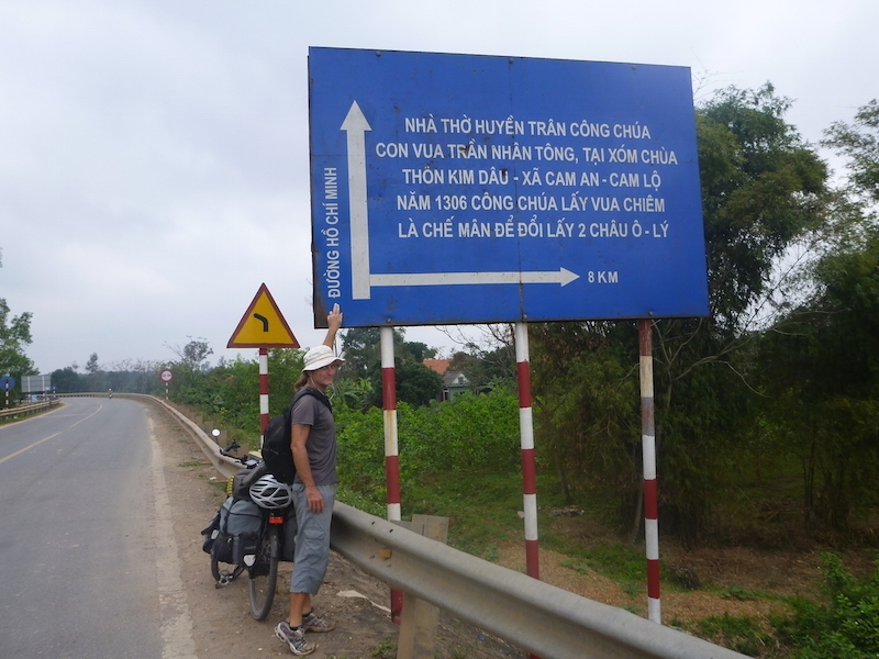 singage on the Ho Chi Minh trail