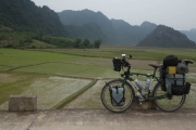 Pangea taking a rest on the Ho Chi Minh Trail