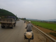 The Ho Chi Minh Trail has very little traffic