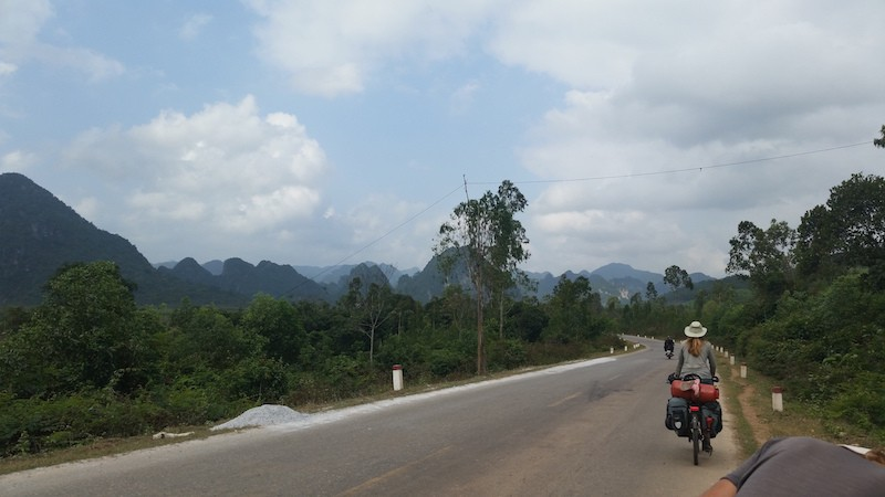 bicycle touring the Ho Chi Minh Trail in Vietnam