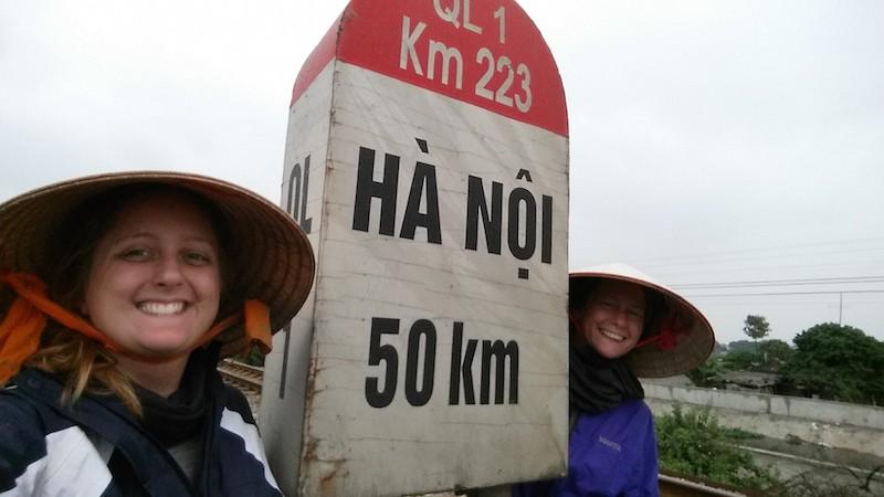 50 km marker to hanoi
