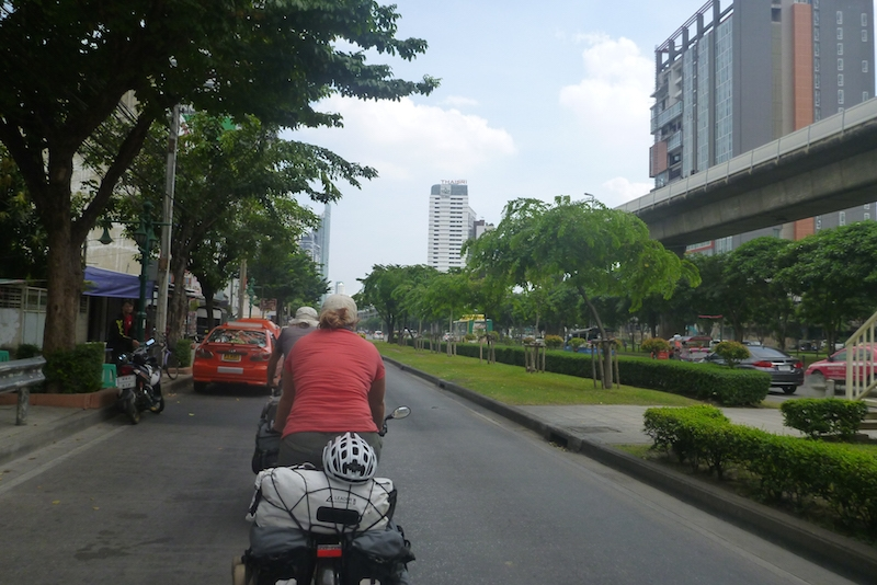 riding into bangkok
