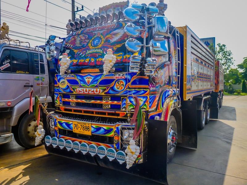 truck blue