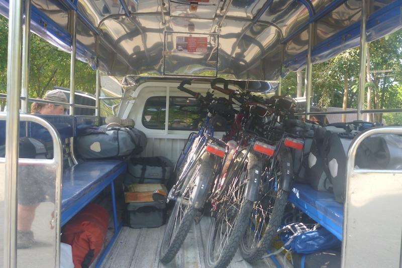 bikes in taxi copy