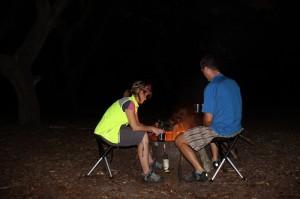 trying out walk stools bike camping Florida
